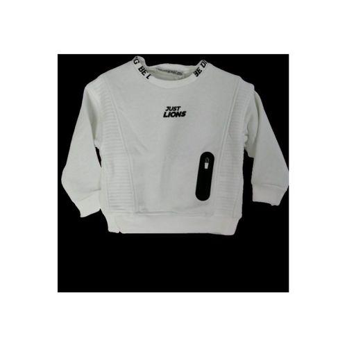 Erkek Çocuk Ekru Yazılı Sweatshirt