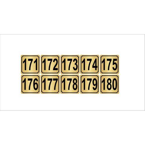 Metal Kapı,masa,dolap Numarası 4cmx4cm 10 Adet (171…180) Altın Renk Metal
