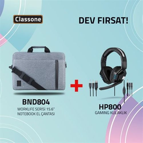 HP800 Gaming Kulaklık ve BND804 Worklife Serisi Notebook El Çantası (50 adet)