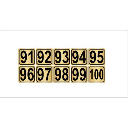 Metal Kapı,masa,dolap Numarası 3,5cmx3,5cm 10 Adet (91…100) Altın Renk Metal