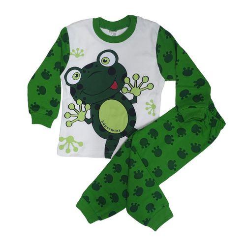 BabyModa Kurbağa Desenli Pijama Takımı