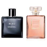 Çiftlere Özel Chanel Set ( Bleu Erkek + Mademoiselle Kadın )