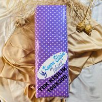 Kumru Elizim Tekstil Tek Kişilik Mor Puantiyeli Lastikli Çarşaf Seti