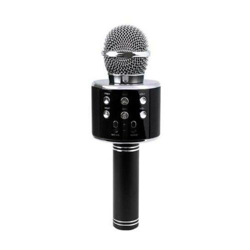 Bluetooth Karaoke Mikrofon Speaker Mp3 Çalar Kart Girişli Siyah
