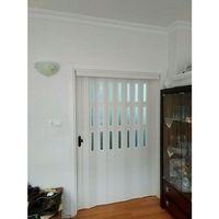 Sarpaş Katlanır Akordiyon PVC Kapı-Camlı Beyaz 12 mm